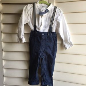 Boys dress shirt/suspenders 12-18month